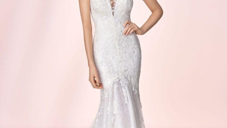 Suknia ślubna w stylu syrenki